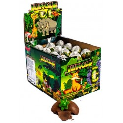Huevo de Chocolate con Sorpresa Jungle x 12 u. Huevos de Chocolates con sorpresa