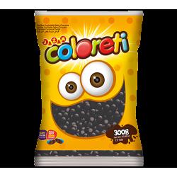 COLORETI x 300 Grs. Negro Pastillas Confitadas de Chocolate